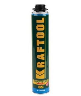 Монтажная пена Kraftool premium 750мл, всесезонная, для пистолета, проф.