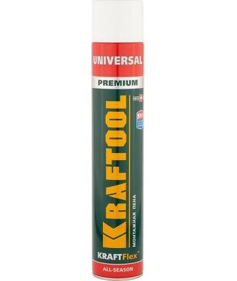 Монтажная пена Kraftool extra quality 750мл,всесезонная, для адаптора