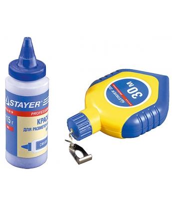 Нить разметочная в наборе с синей краской 30 м, 115г Stayer