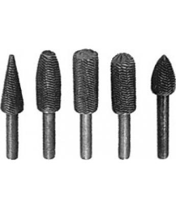 Набор шарошек по металлу 5 шт, материал- усиленная сталь FIT