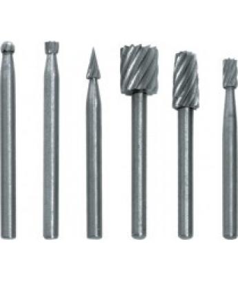 Набор шарошки-мини по металлу  6 шт, материал- усиленная сталь FIT