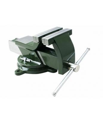 тиски стальные поворотные с наковальней 200 мм ДТ