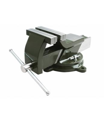 Тиски стальные поворотные  с наковальней 100 мм ДТ