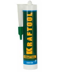Санитарный силиконовый герметик SX105 Premium SANITARY Kraftool 300 мл, прозрачный