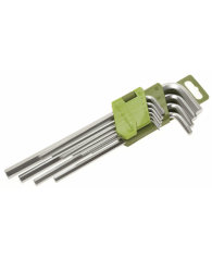 Набор ключей шестишгранных 10 шт. длинных (1.5,2,2.5,3,4,5,6,7,8,10 мм)