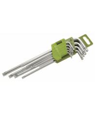 Набор ключей TORX 9шт. коротких(Т10,Т15,Т20,Т25,Т27,Т30,Т40,Т45,Т50)