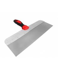 шпатель фасадный нерж. профи, прорез.ручка с метал.бойком 400мм